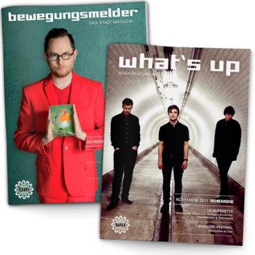 bewegungsmelder & what's up Magazin